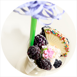 Ежевика на йогурте